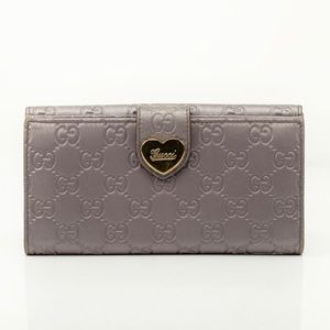 Auth Gucci Guccissima Long Wallet #1635G70